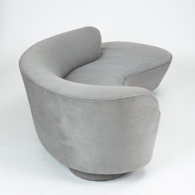 Vladimir Kagan Gray Cloud Sofa With Ottoman For Sale - Image 10 of 13