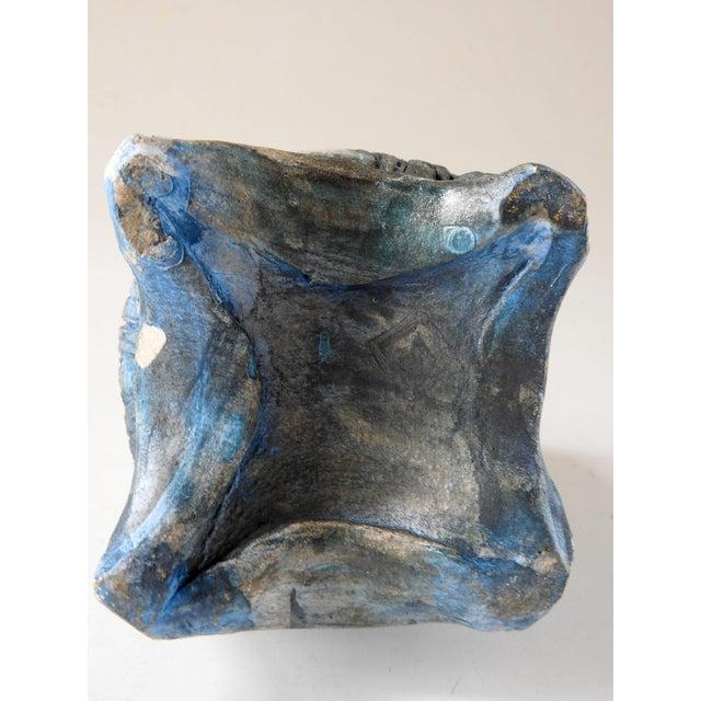 Late 20th Century Studio Raku Pottery Bottle or Vase For Sale - Image 5 of 7