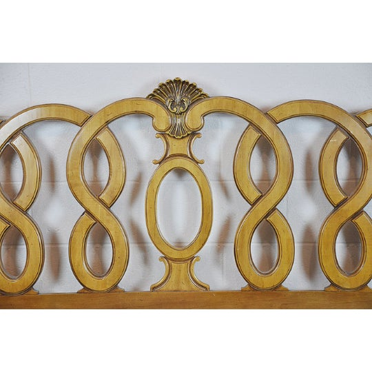 1960's Vintage French Provincial King Headboard - Image 4 of 5