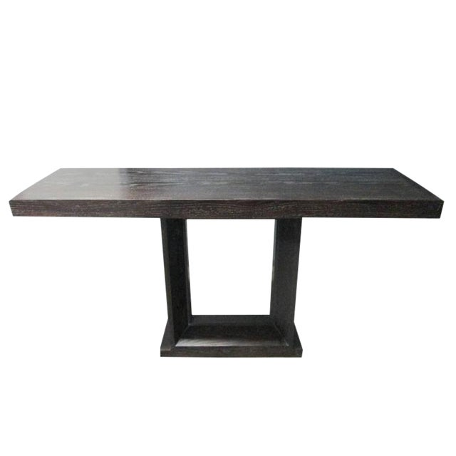 Cerused Oak Console Table For Sale