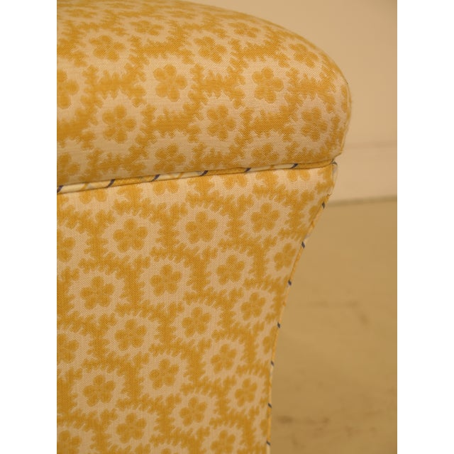 Calico Corners Custom Upholstered Ottomans - A Pair For Sale - Image 4 of 10