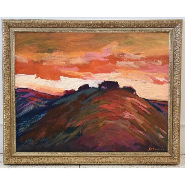 Impressionist Santa Barbara Sunset Painting by Juan Guzman For Sale - Image 9 of 9