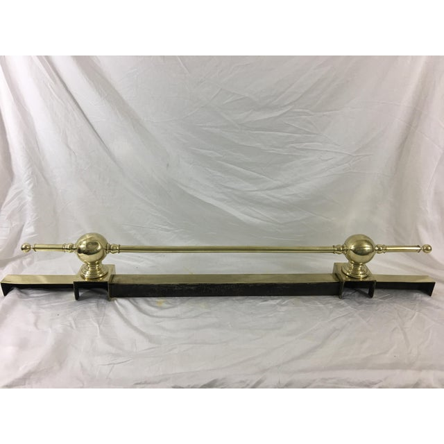 French French Antique Napoleon III Fireplace Fender For Sale - Image 3 of 10