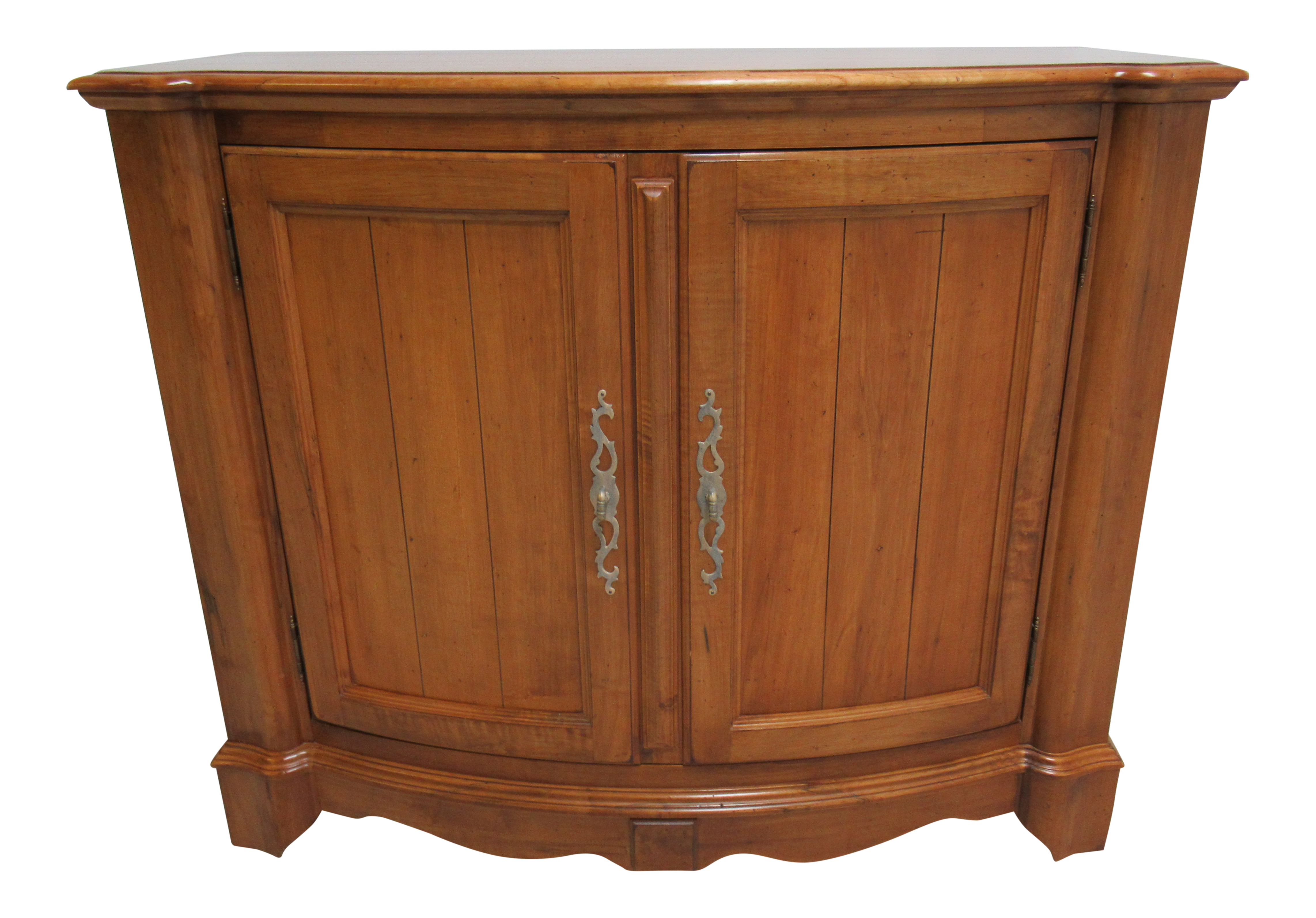 Ethan Allen Legacy Bow Front Server Bar Liquor Cabinet Console Sideboard