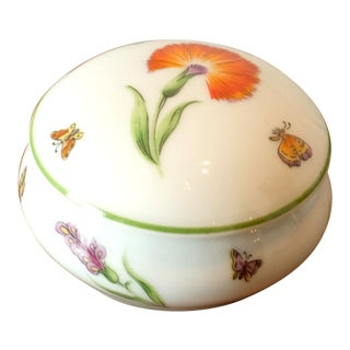 Vintage Tiffany & Co. French Limoges Porcelain Jar W/Top For Sale