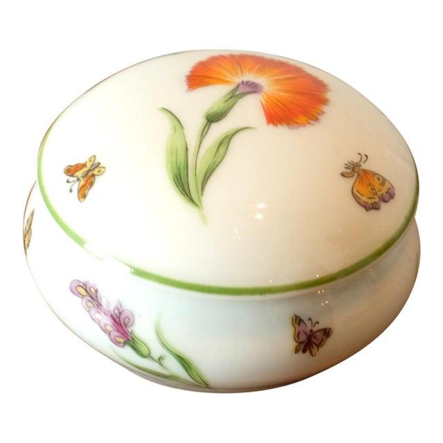 Vintage Tiffany & Co. French Limoges Porcelain Jar W/Top For Sale