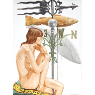 """Philip Pearlstein """"Nude Model With Banner and Fish Weathervanes"""" Lithograph Preview"""