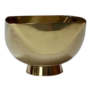Ward Bennett Design Footed Brass Bowl