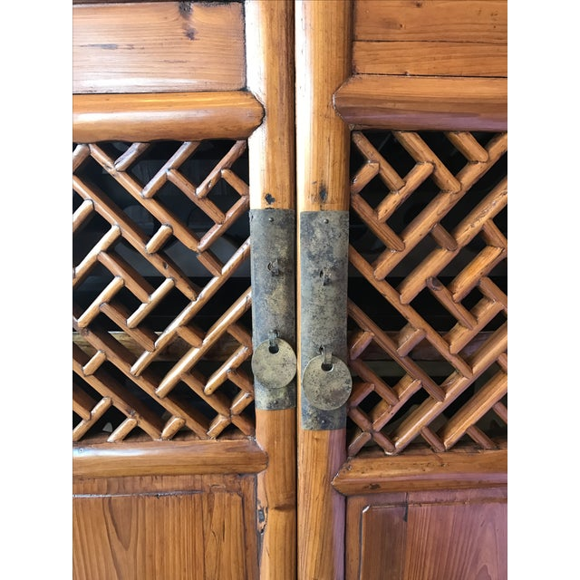 Vintage Bamboo Cabinet - Image 4 of 6