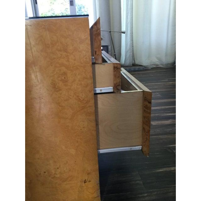 Italian Burl Wood Desk For Sale - Image 9 of 11