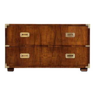 1960s Henredon Campaign Two-Drawer Chest For Sale