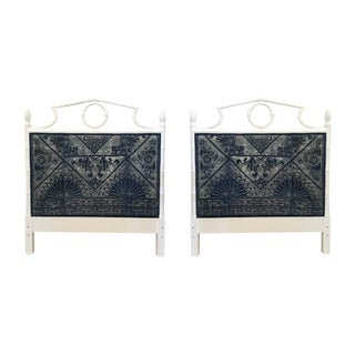 20th Century Boho Chic Faux Bamboo Headboards - a Pair For Sale