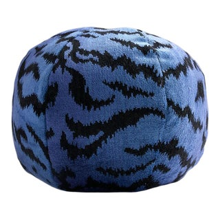 Blue Tigre Sphere Pillow For Sale
