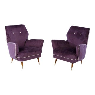 Circa 1960 Italian Mid Century Modern Club Chairs - a Pair For Sale