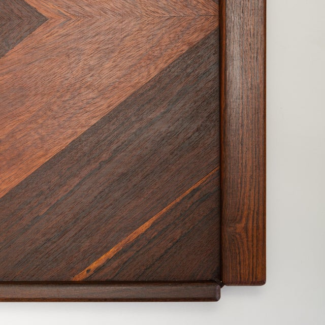 Rosewood Diamond Motif Rosewood Tray by Don Shoemaker for Señal For Sale - Image 7 of 9