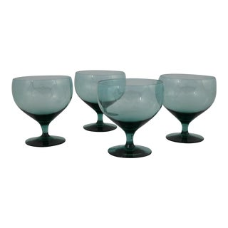 Russel Wright Morgantown American Modern Champagne Coupes - Set of 4 For Sale