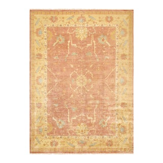 "Pasargad Oushak Wool Area Rug- 10' 1"" X 13'11"" For Sale"