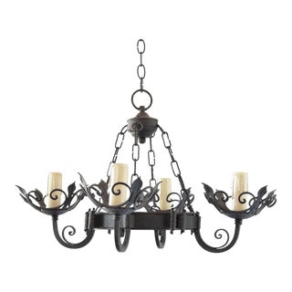 Small Iron Chandelier For Sale