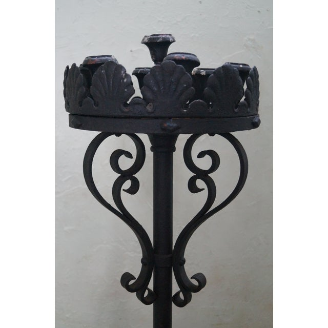 Quality Wrought Iron Torchieres Candle Holders - Image 10 of 10