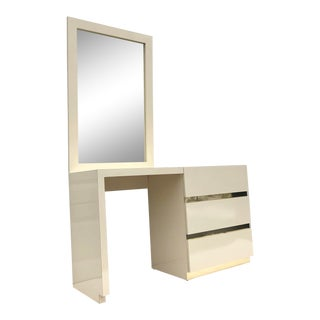Vintage Modern Bedroom Vanity With Mirror For Sale