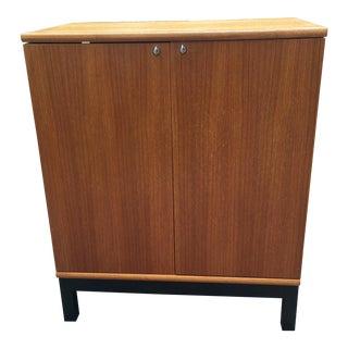 Teak Danish Modern Bar Cabinet