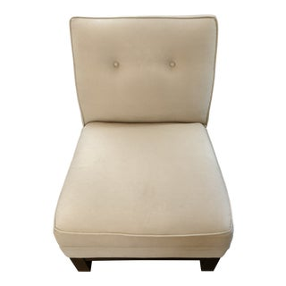Crate & Barrel Armless Beige Chair