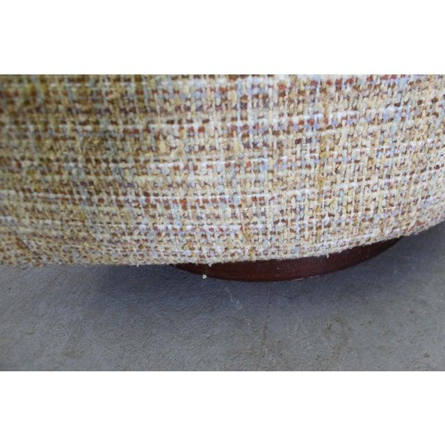 Mid-Century Modern Milo Baughman Thayer Coggin Swivel Rocker Lounge Chair For Sale - Image 11 of 13