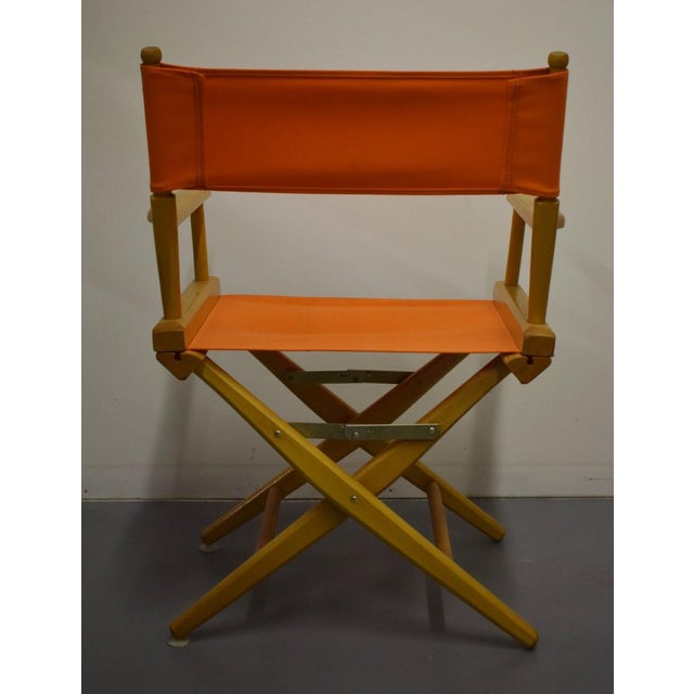 hermes orange canvas director s chairs a pair chairish