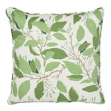 Image of Contemporary Schumacher X Miles Redd Dogwood Leaf Pillow in Ivory - 18ʺW × 18ʺH For Sale