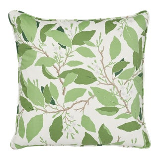 Schumacher X Miles Redd Dogwood Leaf Pillow in Ivory For Sale
