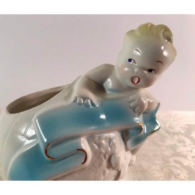 Art Deco Baby & Globe Ceramic Vase - Image 10 of 11