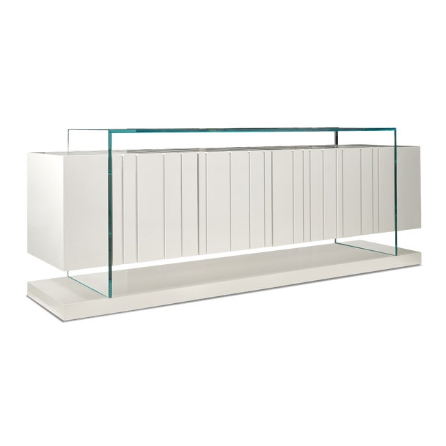 Contemporary Vintage White Reveal Cabinet For Sale - Image 3 of 3