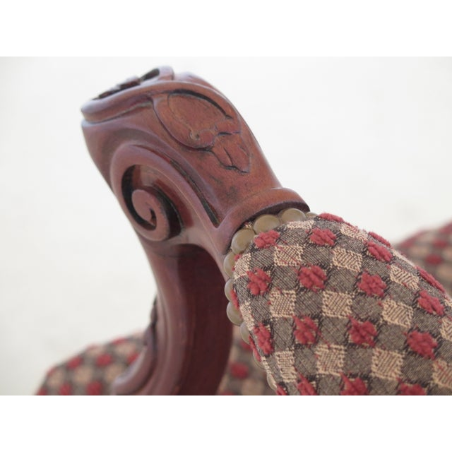 2000s Sherrill French Louis XV Style Upholstered Arm Chair For Sale - Image 5 of 13