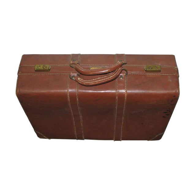 Vintage Leather Gladiator Suitcase - Image 1 of 10