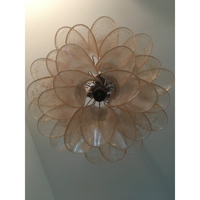"Italian murano glass chandelier sella gold and trasparent kromo metal frame diameter 45 cm = 17.7"" Elegant and classic..."