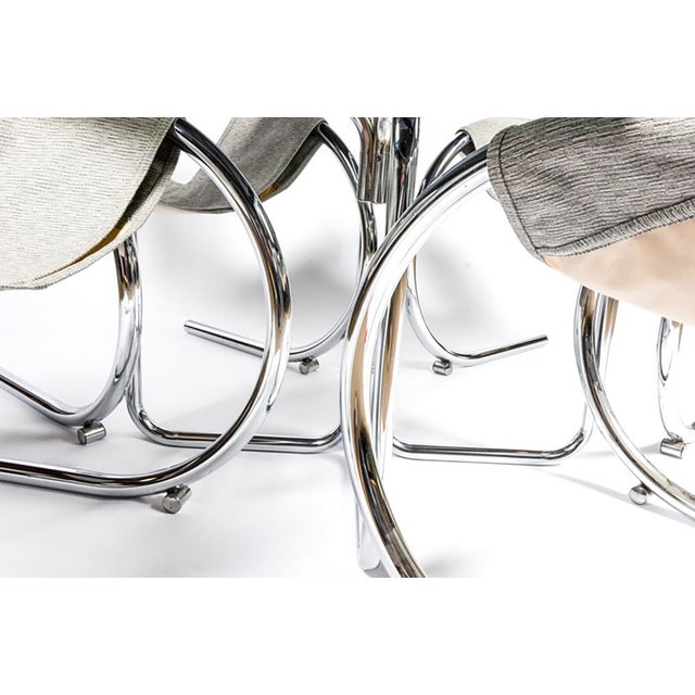 Sculptural Byron Botker Chrome Dining Set For Sale - Image 7 of 7