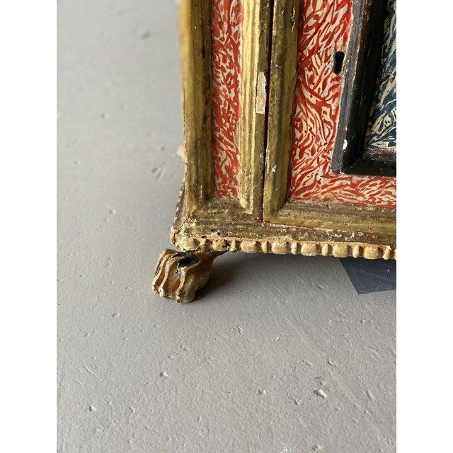 19th Century 19th Century Miniature Italian Cabinet For Sale - Image 5 of 9