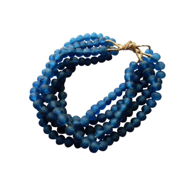 African Jumbo Glass Trade Bead Strands - Set of 5 - Image 1 of 8