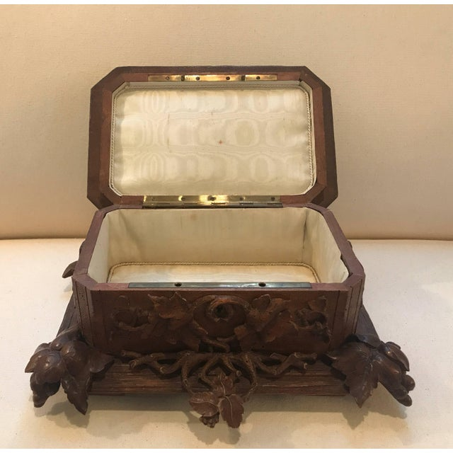 Brown Black Forest Hinged Box For Sale - Image 8 of 11