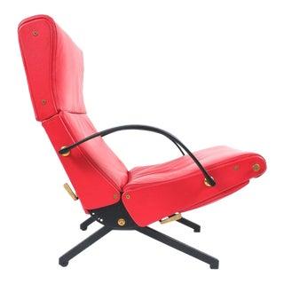 Osvaldo Borsani P40 Relaxing System Leather Armchair, Tecta 1950 Italy
