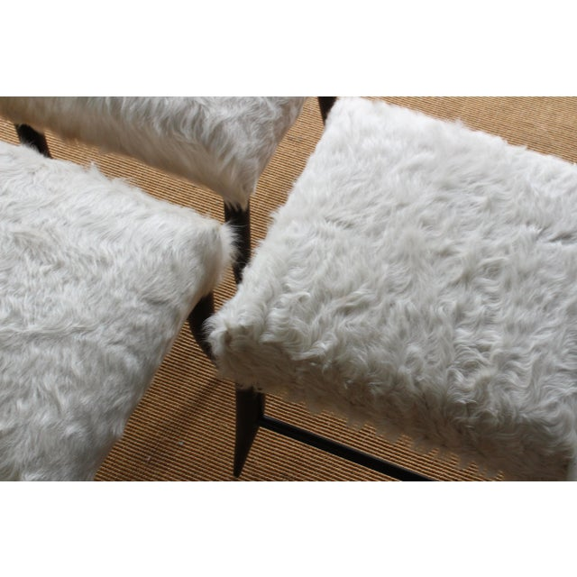 Animal Skin Croft Stool in Cowhide by Hollywood at Home For Sale - Image 7 of 8