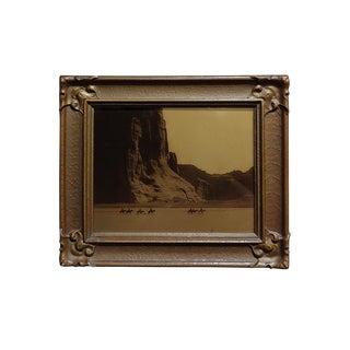 Edward Curtis -Navajo Canyon De Chelly -1904 Original Orotone-Rare For Sale