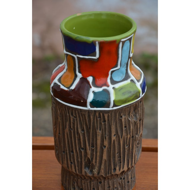 Bitossi for Raymor Mondrian & Wood Themed Vase For Sale In Richmond - Image 6 of 10