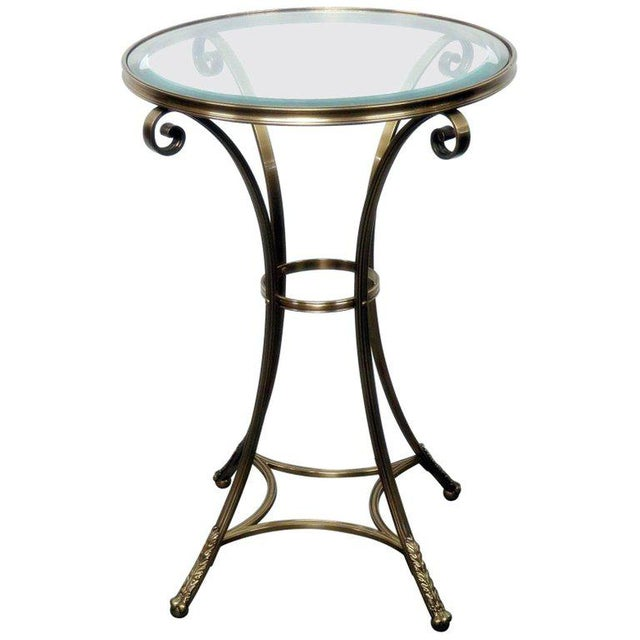 Hollywood Regency Style Glass Top Gueridon For Sale In Philadelphia - Image 6 of 6
