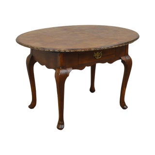 Ralph Lauren Mahogany George III Style Oval Leather Top Library Table For Sale