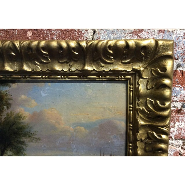Antique 18th Century Dutch Old Masters Oil Painting For Sale In Los Angeles - Image 6 of 10