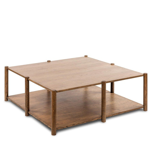 Loma Coffee Table - Large in Brown For Sale In Los Angeles - Image 6 of 6