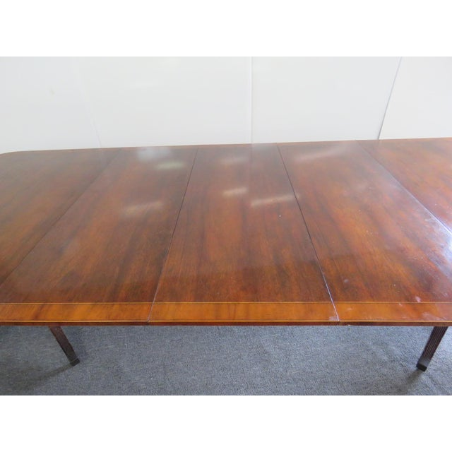Baker Georgian Style Double Pedestal Dining Table For Sale - Image 10 of 11