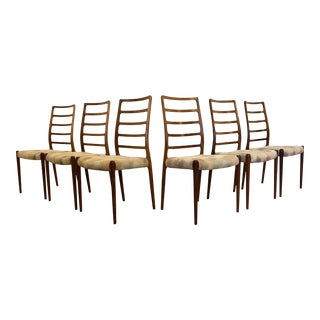 Rosewood Model 82 Dining Chairs by Niels Otto Møller for j.l. Møllers Møbelfabrik - Set of 6 For Sale