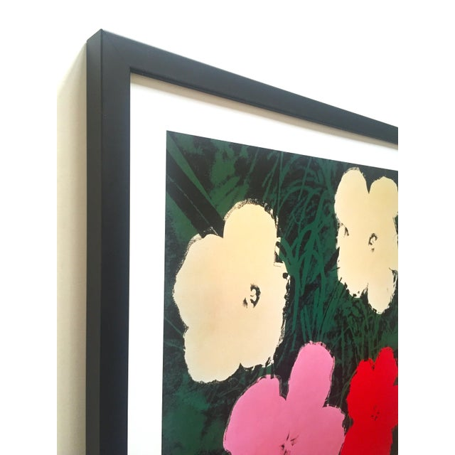 """2000 - 2009 Andy Warhol Foundation Vintage Lithograph Print Framed Pop Art Poster """" Flowers III """" 1964 For Sale - Image 5 of 13"""